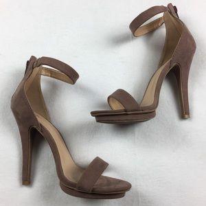•• Windsor • Dusty Nude Ankle Strap Heels